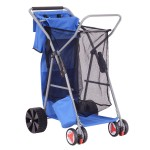 Goplus Folding Wonder Wheeler Beach Cart