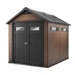 Keter Fusion Large 7.5 X 9 Ft. Wood & Plastic Storage Shed