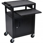 LUXOR LP34CLE B Endura 3 Shelf Presentation Cart