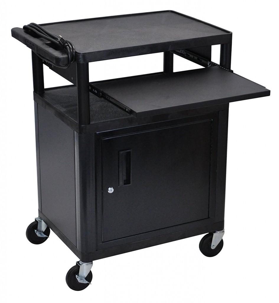 LUXOR LP34CLE B Endura 3 Shelf Presentation Cart