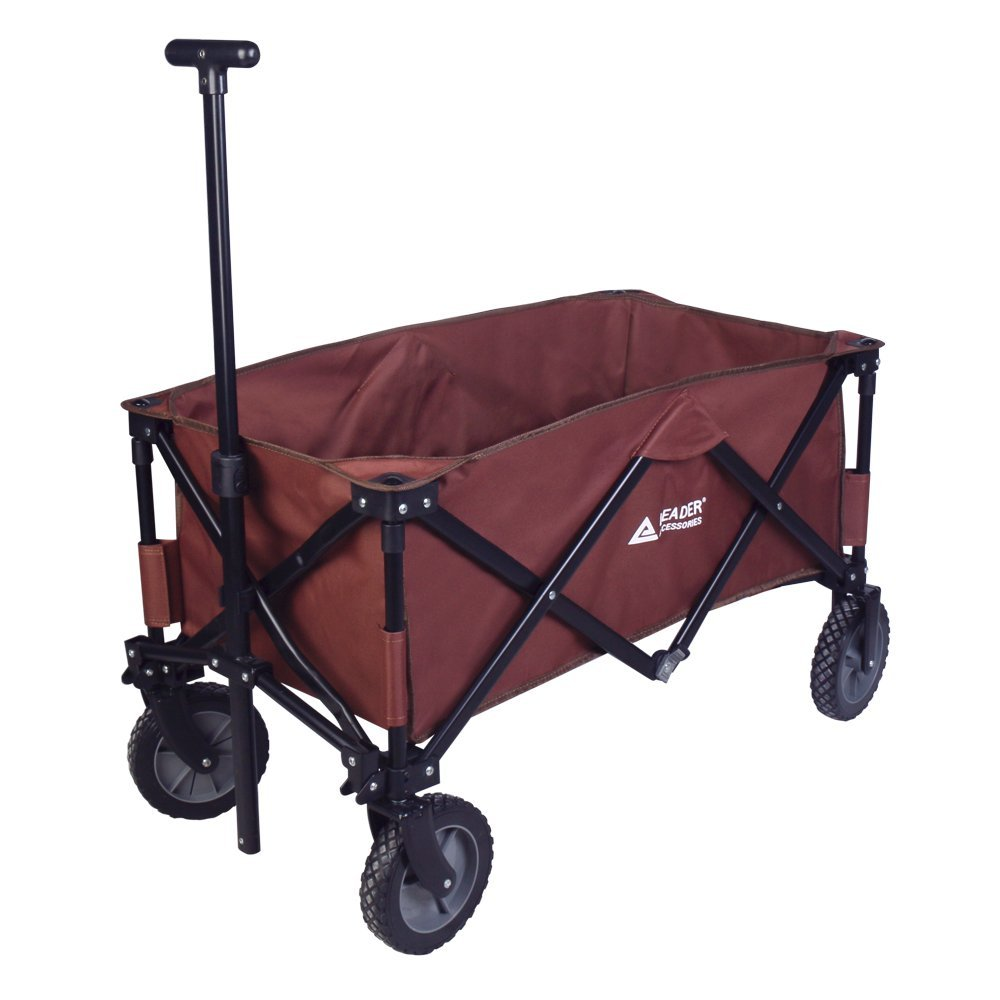 Leader Accessories Folding Outdoor Utility Wagon
