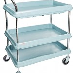 Metro Deep Ledge Series Antimicrobial Polymer Utility Cart