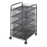 New Safco 5214BL Onyx Mesh Mobile File WFour Supply Drawers