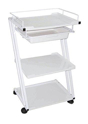 Skin Act White Trolley Three (3) Shelf Trolley Cart