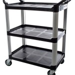 Update International (BC 2416BZ) 31 Plastic 3 Tier Bus Cart