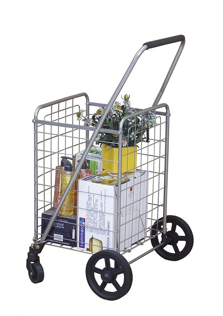 Wellmax WM99024S Portable Folding Shopping Cart