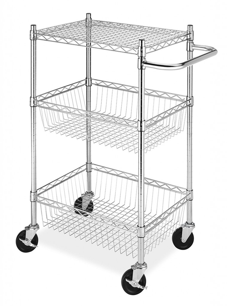 Whitmor 3 Tier Cart W 2 Basket Shelves