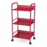 Dar Living 3 Tier Cart, Red