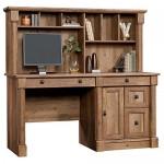 Oak Computer Desk With Hutch