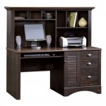 Wood Computer Desk With Hutch