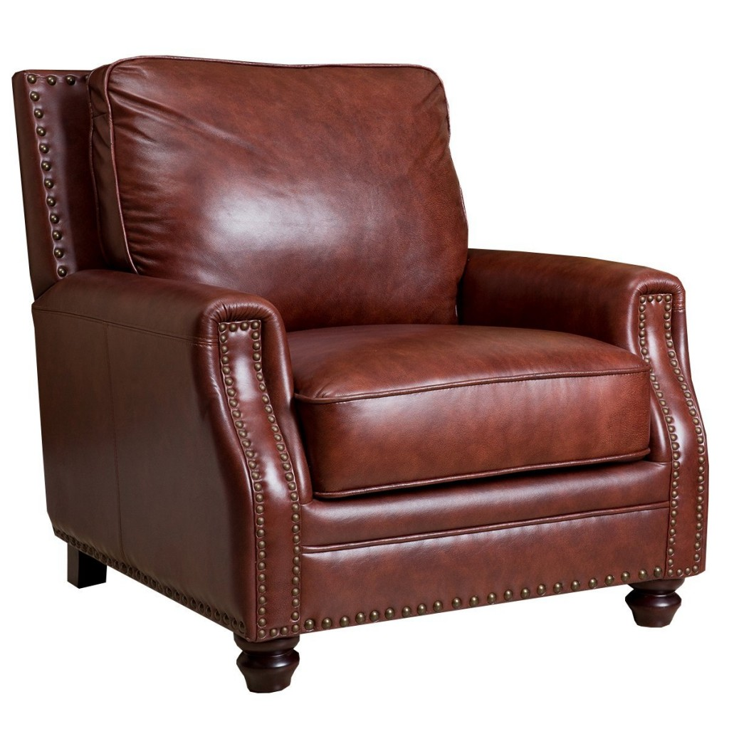 Abbyson Bel Air Hand Rubbed Leather Armchair