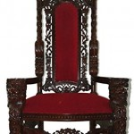 Giant Mahogany Throne Chair For King