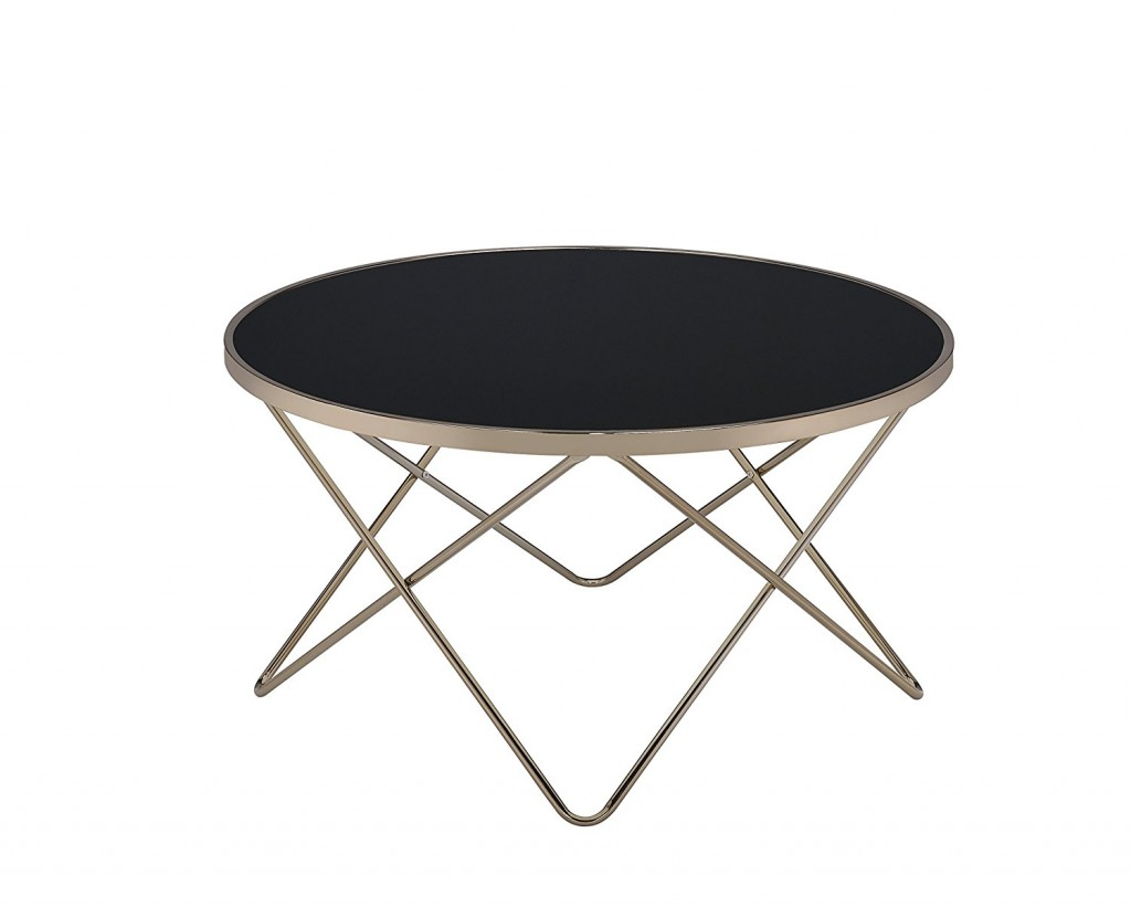 Round Mid Century Coffee Table