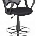 Boss Mesh Drafting Stool With Loop Arms