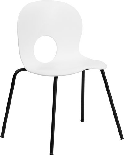 HERCULES Series 770 Lb. Capacity Designer White Plastic Stack Chair