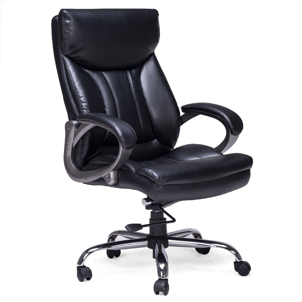 New Black O14 High Back Executive Leather Ergonomic Office Computer Task Chair