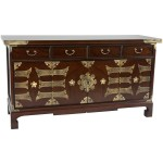 Oriental Furniture Korean Antique Style Coffee Table Low Chest