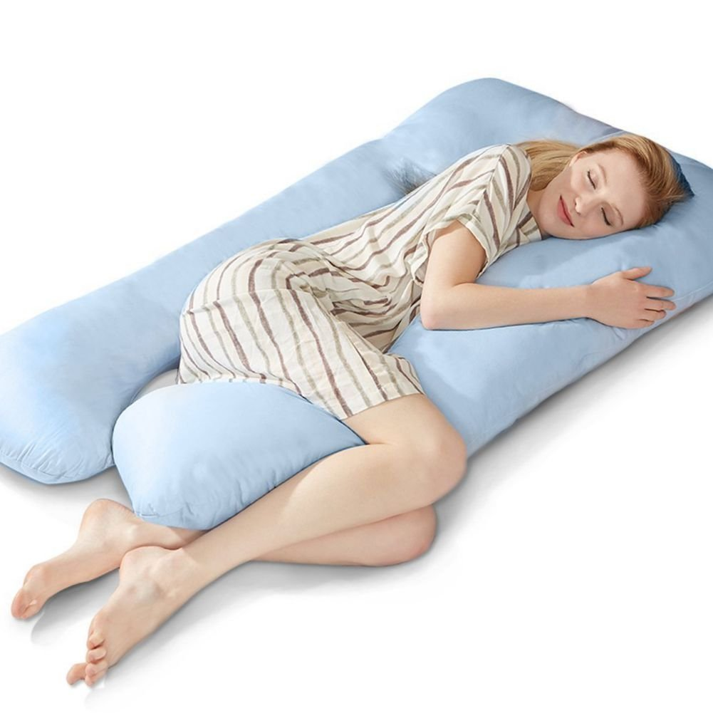 Puredown C Shaped Maternity Pregnancy Contoured Body Pillow