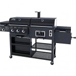 Gas Grill Smoker Combo