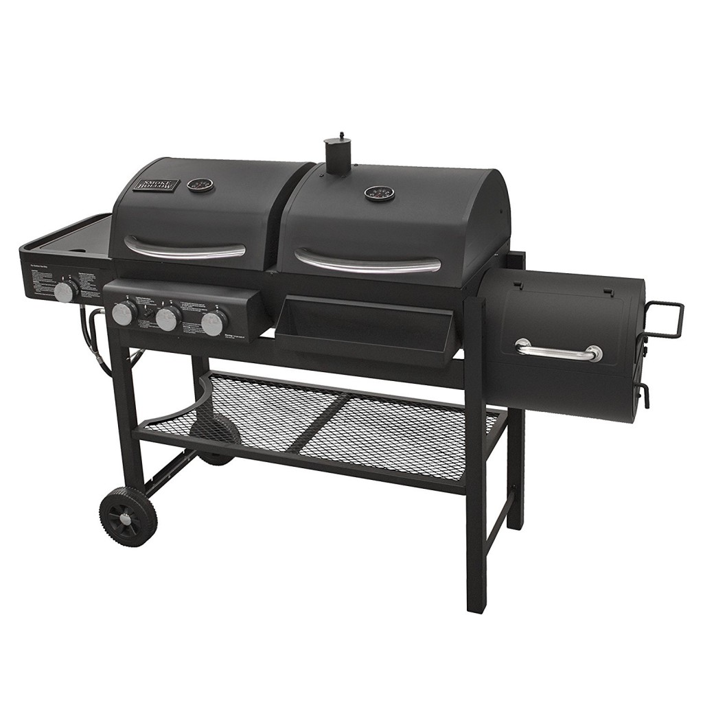 Gas Grill With Smoker