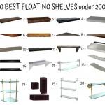 20 Best Floating Shelves Under 200$