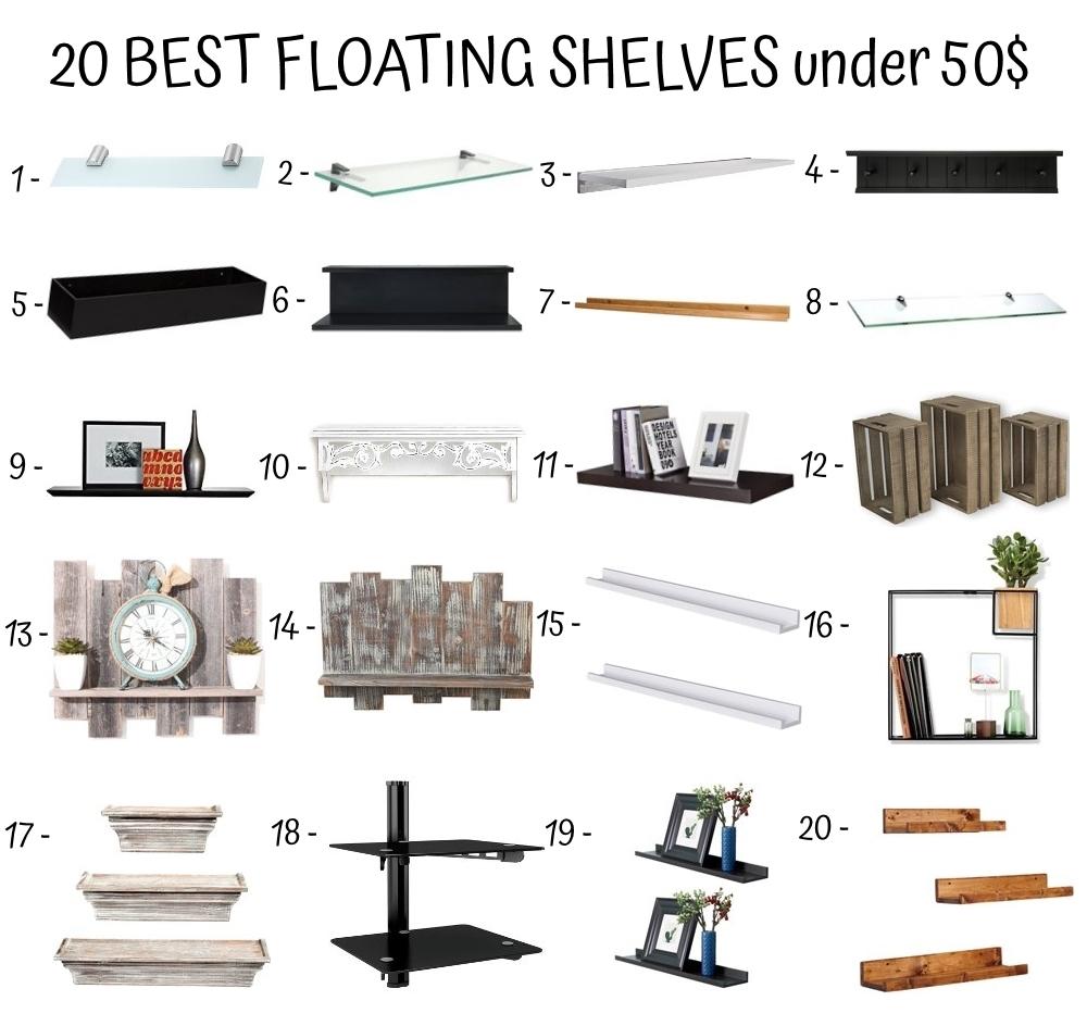 20 Best Floating Shelves Under 50$