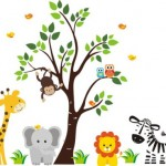 Baby Nursery Wall Decals Safari Jungle Childrens Themed