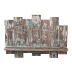 Distressed Barnwood Floating Shelf