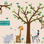 Fabric Safari Evergreen Jungle Tree Wall Decals