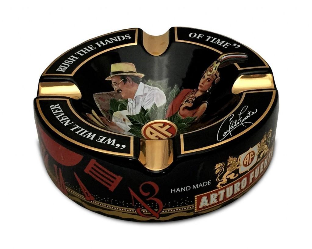 Limited Edition Large 8.75 Arturo Fuente Porcelain Cigar Ashtray Black