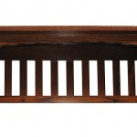 Mission Captain Shelf Solid Oak Wood Wall Mounted
