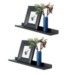 WELLAND Set Of 2 (6 Depth) Picture Ledge, Photo Ledge Picture Ledge Shelf