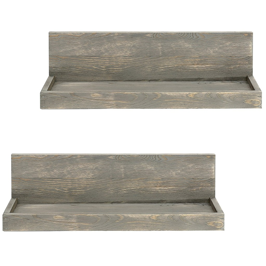 Rustic Floating Wall Shelves