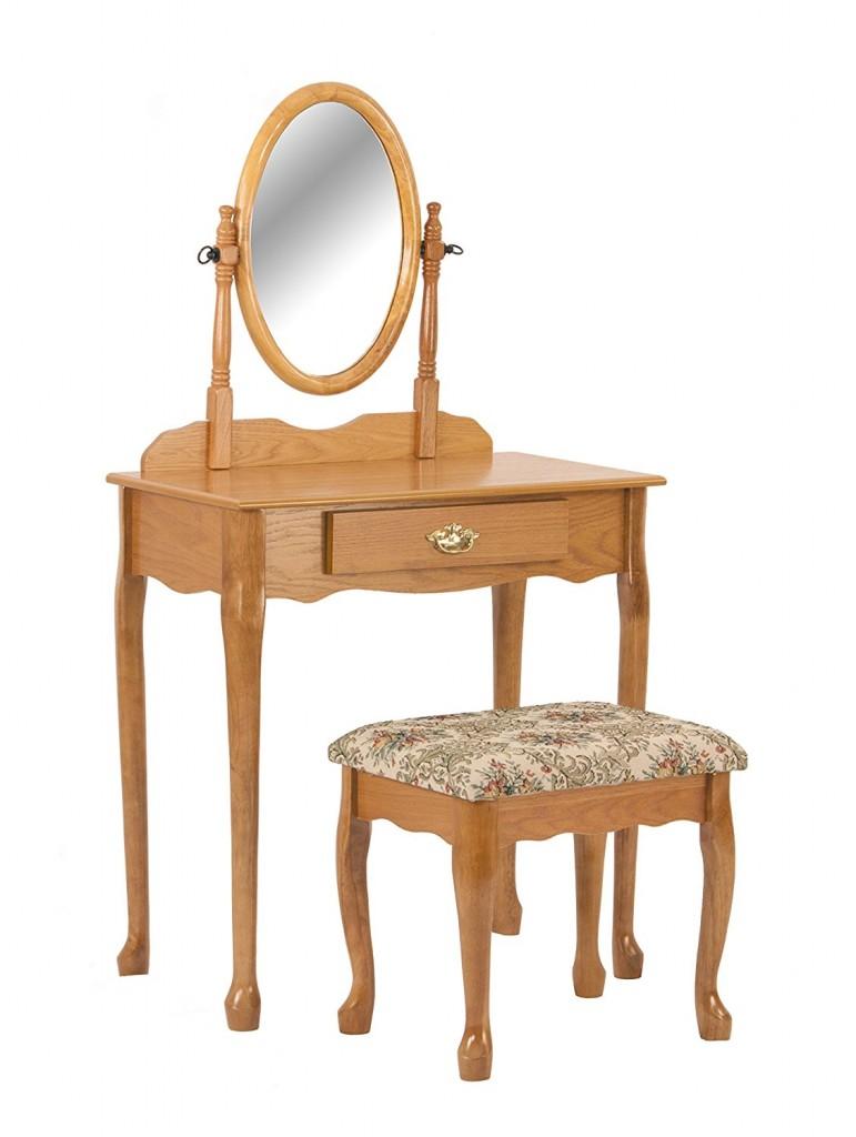 Wood Vanity Set