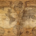 10.5 Feet Wide By 8 Feet High. Prepasted Wallpaper High Quality Full Wall Size Mural From A Photo Of Old World Map