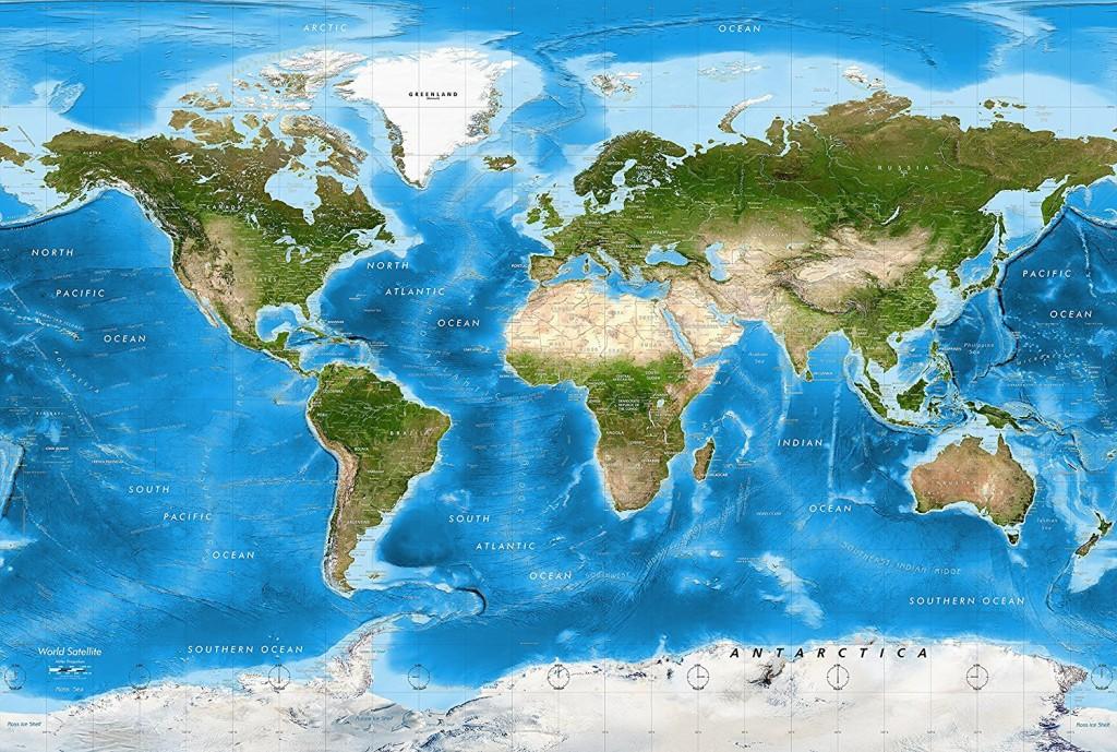 Academia Maps World Map Wall Mural