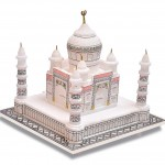 Artist Haat Handmade Taj Mahal Replica With Colourful Painting
