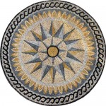 Designed Medallion Marble Mosaic Stone Art Tiles Hand Made Wall Floor Decor
