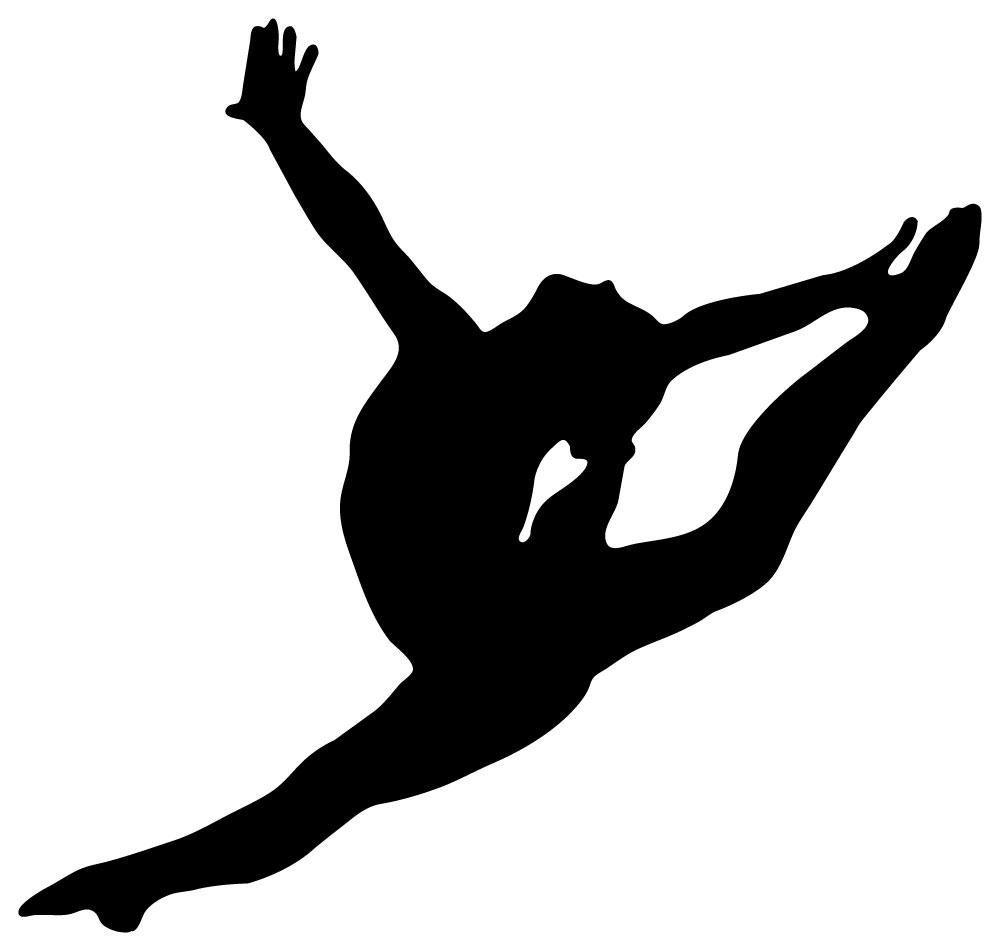 Gymnastics Silhouette Style Graceful Wall Decal By Wallmonkeys Peel And Stick Graphic