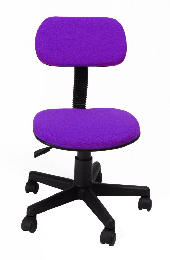 Homycasa Mid Back Purple Mesh Computer Chair