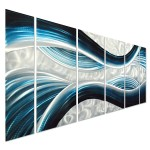 Pure Art Blue Desire Metal Wall Art, Large Scale Decor