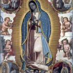 Virgin Of Guadalupe Pattern 1700 Year Tile Mural