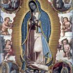 Virgin Of Guadalupe Pattern 1700 Year Tile Mural