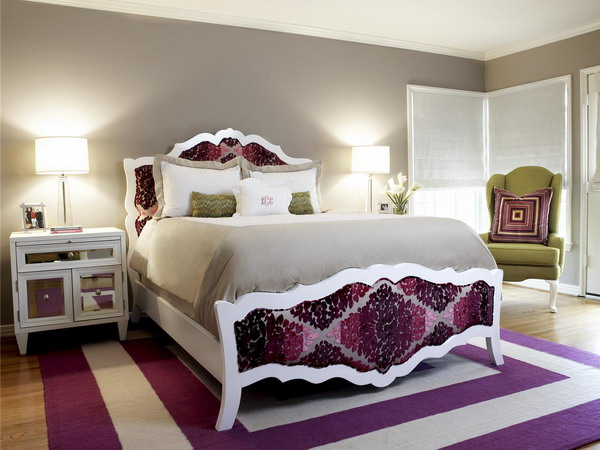 Purple and White Bedroom Ideas