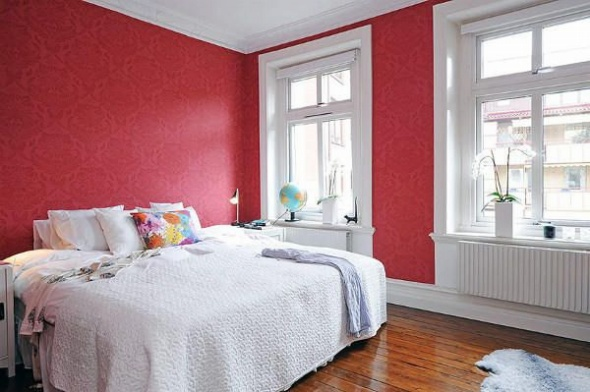Red and White Bedroom Ideas