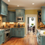 Antiquing White Kitchen Cabinets