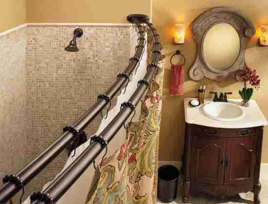 Double Curved Shower Curtain Rod Oil Rubbed Bronze Decor