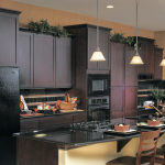 Kitchen Cabinet Colors with Black Appliances
