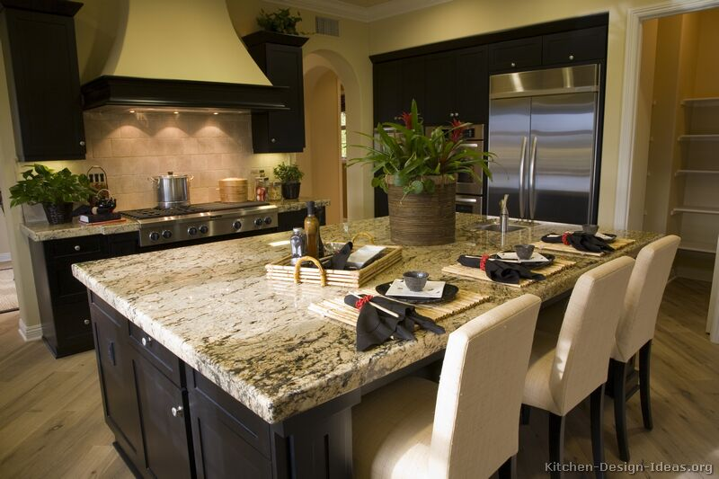 Kitchen Colors with Black Cabinets