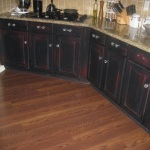 Rustic Black Kitchen Cabinets